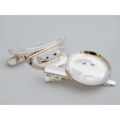 Ezüst kitűző/bross alap tányéros