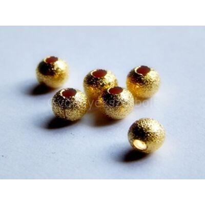 Arany stardust fémgyöngy 4 mm