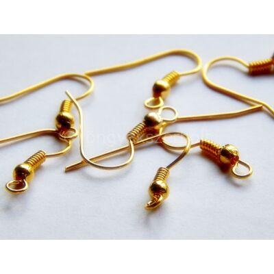 100 db arany fülbevaló akasztó 18x18 mm