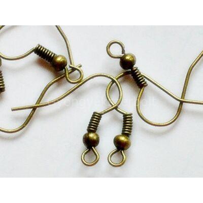 100 db bronz fülbevaló akasztó 18x18 mm