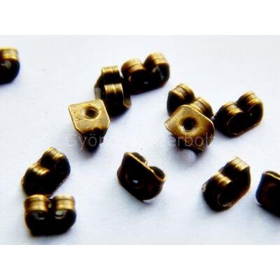 100 db bronz fülbevaló fémhátsó