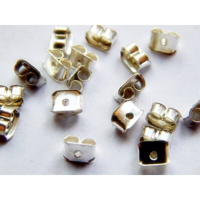 100 db ezüst fülbevaló fémhátsó