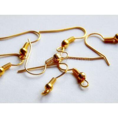 20 db arany fülbevaló akasztó 18x18 mm