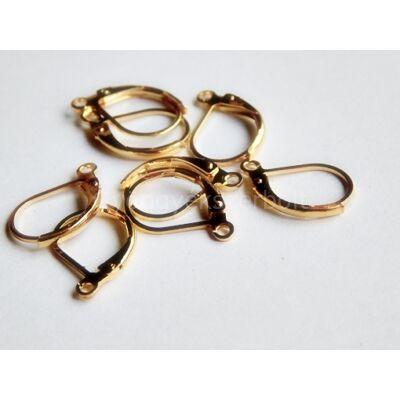 Arany biztonsági kapcsos fülbevaló akasztó 15x10 mm
