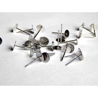 Platina beszúrós fülbevaló alap 6 mm