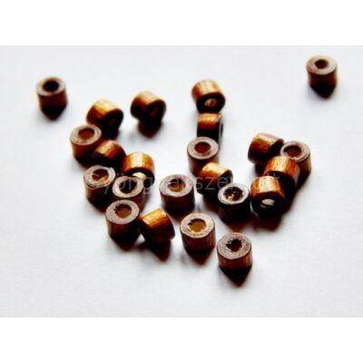 Sötét barna mini henger fagyöngy 3x4 mm