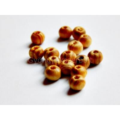 Világos barna csíkos fagyöngy 6 mm