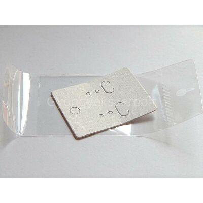 Fehér fülbevaló lapka 40x50 celofán zacskóval