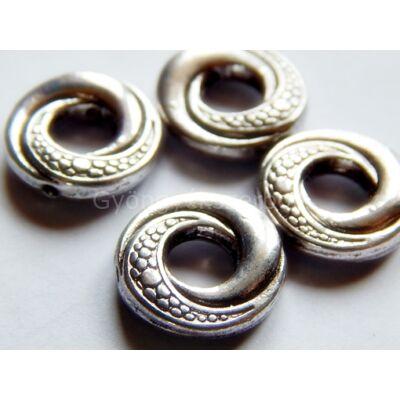 Antik ezüst fánk gyöngykeret 4-es