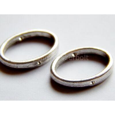 Antik ezüst ovális gyöngykeret 10-es
