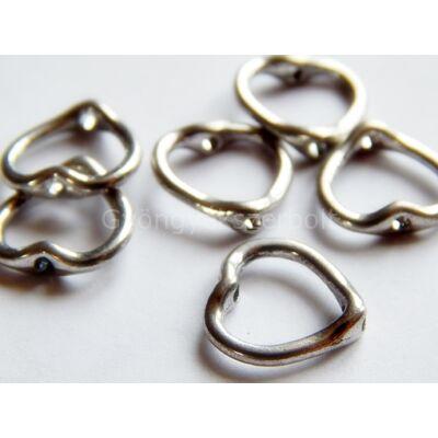 Antik ezüst szív gyöngykeret 8-as