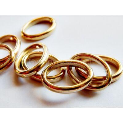 Arany CCB ovális gyöngykeret 12 mm