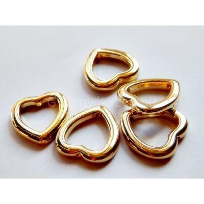 Arany CCB szív gyöngykeret 12 mm