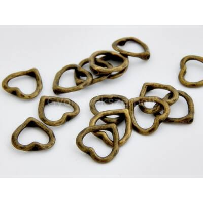 Bronz szívecske gyöngykeret 8-as