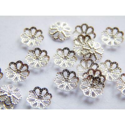 100 db ezüst filigrán gyöngykupak 6mm