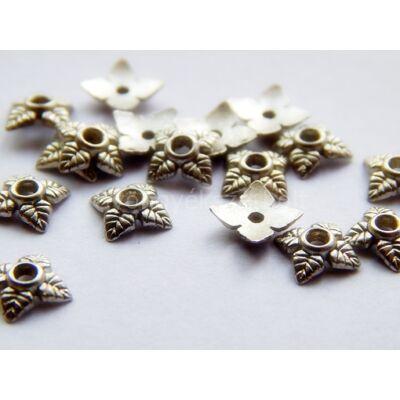 20 db antik ezüst tibeti stílusú falevél gyöngykupak 6mm