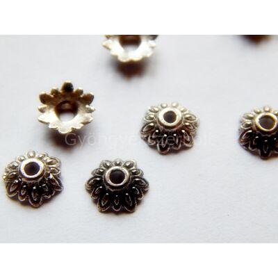 Antik ezüst tibeti stílusú nap gyöngykupak 8mm