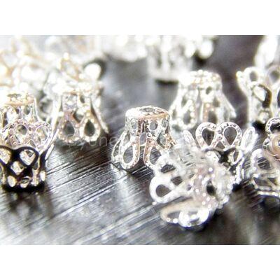 20 db ezüst harang alakú gyöngykupak kicsi