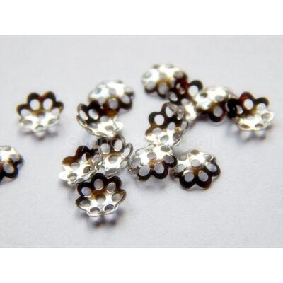 Platina daisy gyöngykupak 6mm