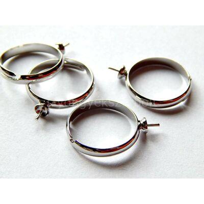Platina gyűrűalap félig fúrt gyöngyökhöz