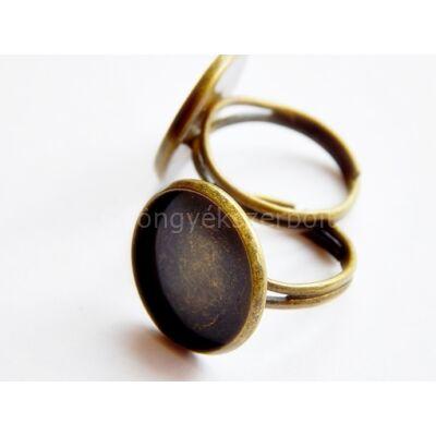 Bronz lencsés gyűrűalap 16 mm