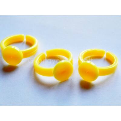 Citrom műanyag gyerekgyűrű 9 mm