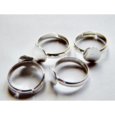 Ezüst tányéros gyerek gyűrűalap 8 mm