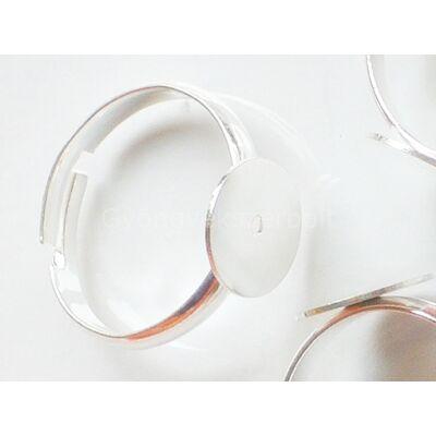 Ezüst tányéros gyűrűalap 10 mm