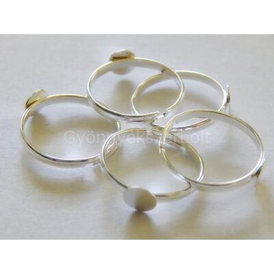 Ezüst tányéros gyűrűalap 6 mm