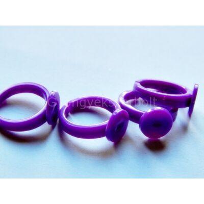 Lila műanyag gyerekgyűrű 9 mm