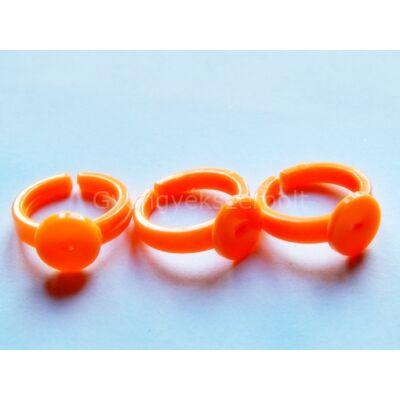 Narancs műanyag gyerekgyűrű 9 mm