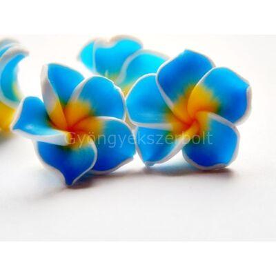 Kék virág gyurmagyöngy