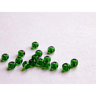 Preciosa kásagyöngy, smaragdzöld, 6/0, 4 mm