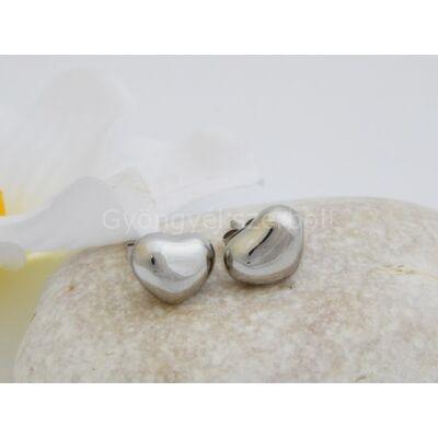 Szív alakú orvosi acél fülbevaló