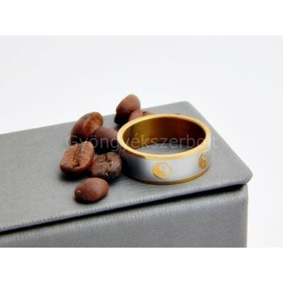 Jin-jang orvosi acél gyűrű 21-es