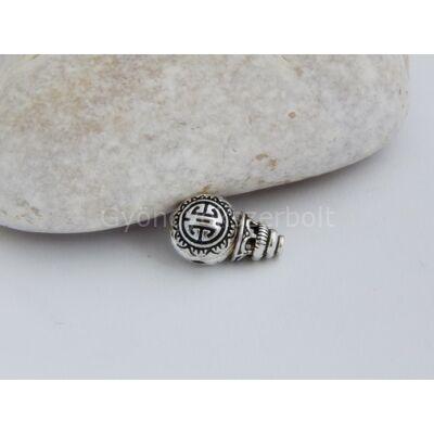 Antik ezüst guru gyöngy 10 mm
