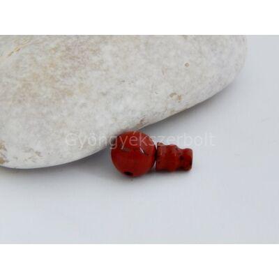 Vörös jáspis guru gyöngy 10 mm