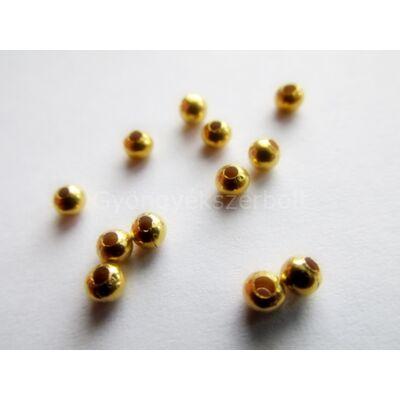 100 db arany köztes gyöngy 3 mm
