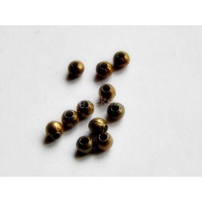 100 db bronz köztes gyöngy 3 mm