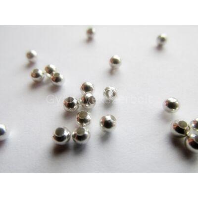 100 db ezüst köztes gyöngy 3 mm