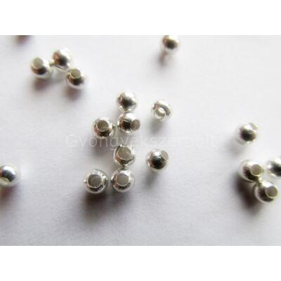 100 db ezüst köztes gyöngy 4 mm