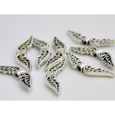 Antik ezüst angyal szárny köztes 32x6