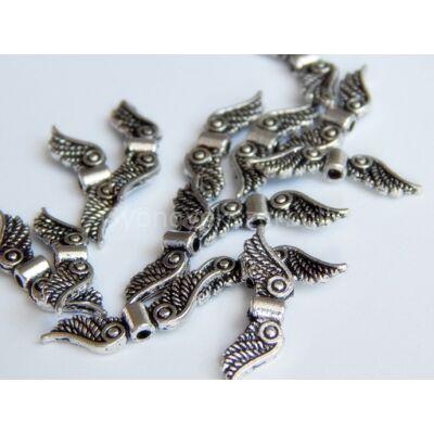 Antik ezüst angyal szárny köztes 23x7