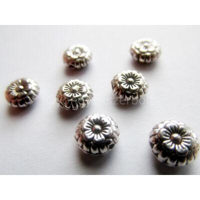 Antik ezüst diszkosz köztes gyöngy 8 mm