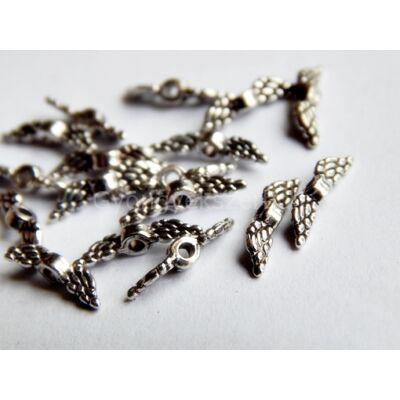 Antik ezüst mini angyalszárny köztes