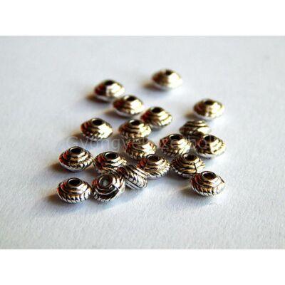 Antik ezüst mini ufo köztes 5x3 mm