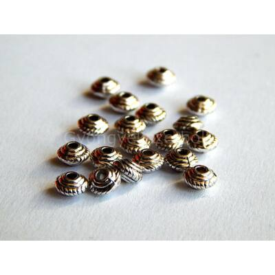 Antik ezüst mini ufo köztes 5x3 mm