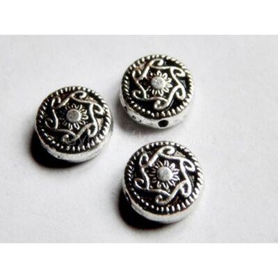 Antik ezüst napfonat köztes gyöngy 10 mm