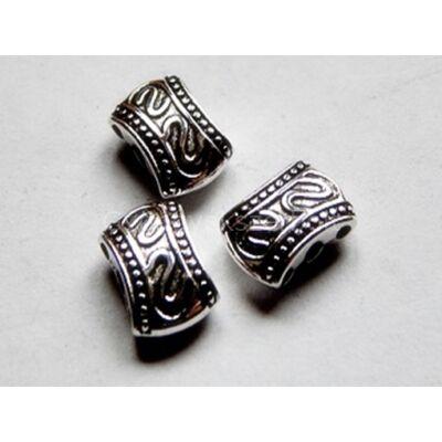 Antik ezüst nugget 3 soros távtartó 11x7 mm