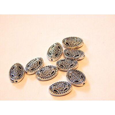 Antik ezüst teknőspáncél köztes 13x10 mm